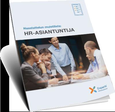 Haastattelun muistilista: HR-asiantuntija