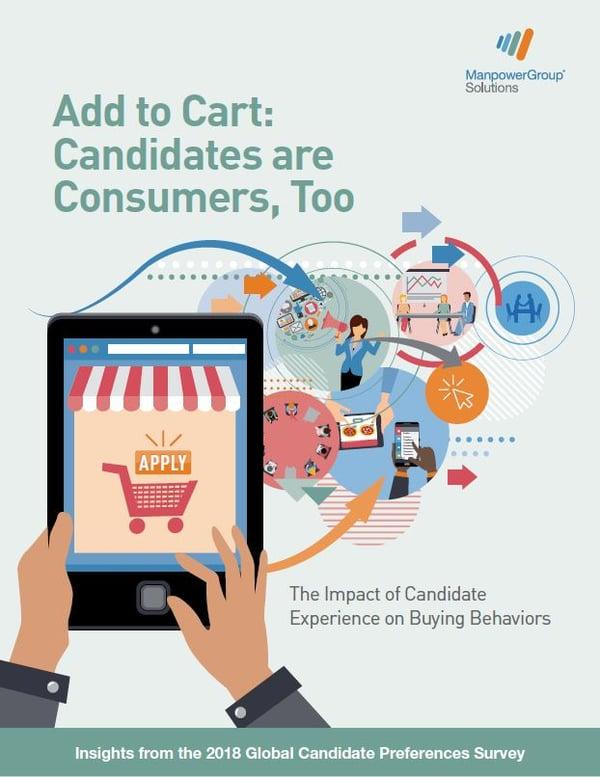 Hakijat ovat myös kuluttajia - Kokemukset työnhausta vaikuttavat ostopäätöksiin - Manpower