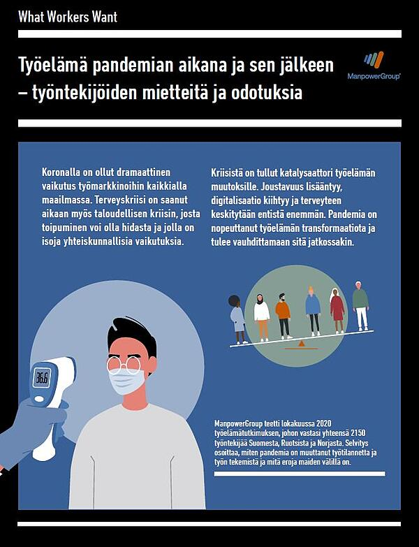 Lue tutkimus: Työelämä pandemian aikana ja sen jälkeen - työntekijöiden mietteitä ja odotuksia - Manpower